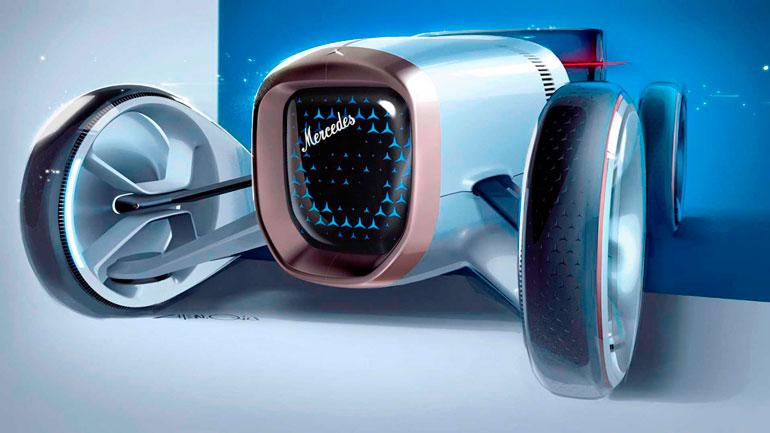 Концептуальный Mercedes Simplex показывает то как могла бы выглядеть современная машина 100 лет назад