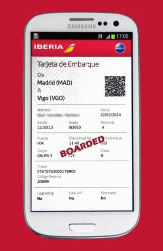 Iberia to offer NFC boarding cards