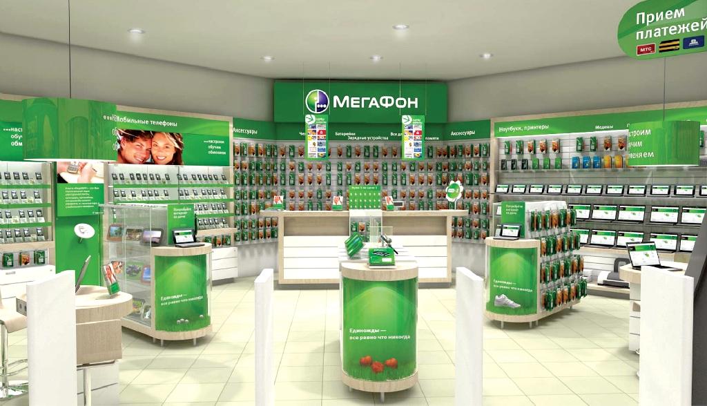 Запервые три месяца года «Мегафон» закрыл 400 салонов связи