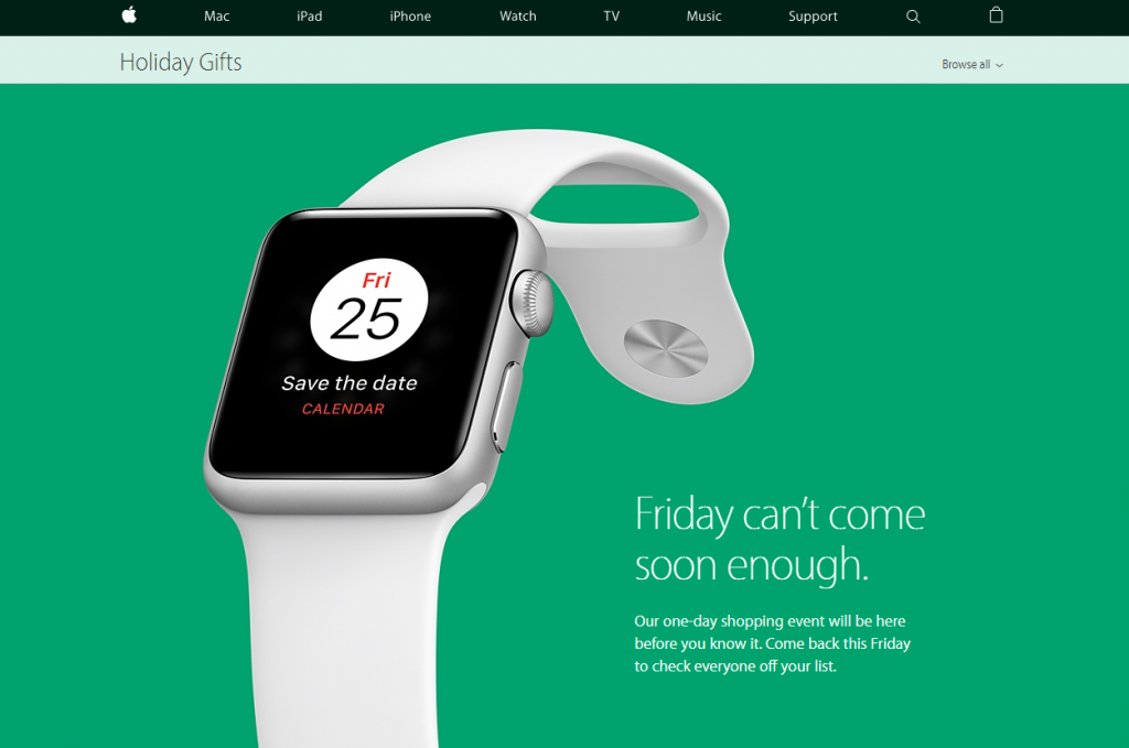 Apple проведет акцию распродажи врамках «черной пятницы»