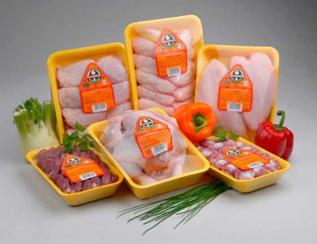 Упаковка мяса кур